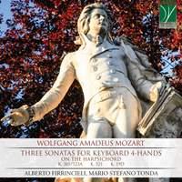 W. A. Mozart: Three Sonatas for Keyboard 4-hands, on the harpsichord