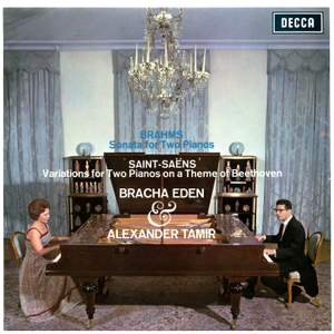 Brahms: Sonata for 2 Pianos; Saint-Saëns: Variations for Two Pianos on a Theme of Beethoven