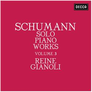 Schumann: Solo Piano Works - Volume 3 Product Image