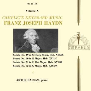 Haydn: Complete Keyboard Music, Volume X