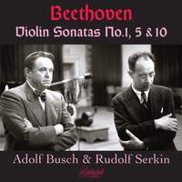 Beethoven: Violin Sonatas Nos. 1, 5 & 10