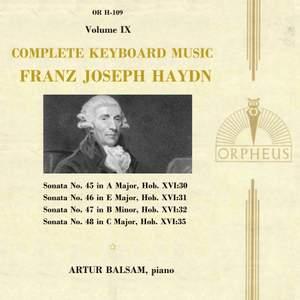 Haydn: Complete Keyboard Music, Volume IX