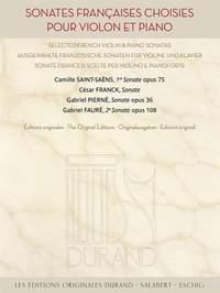 Sonates françaises choisies pour violon et piano