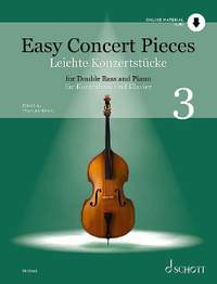 Easy Concert Pieces for Double Bass and Piano Volume 3