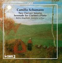 Camillo Schumann: Works for Clarinet & Piano