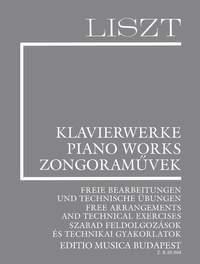 Liszt: Free Arrangements and Technical Exercises