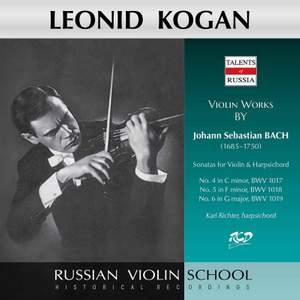 J.S. Bach: Violin Sonatas Nos. 4-6, BWVV 1017-1019