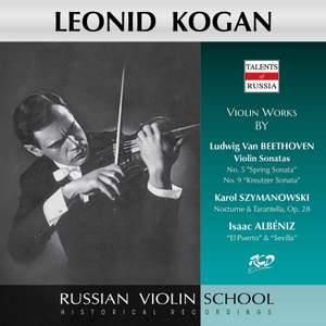 Beethoven, Szymanowski & Albéniz: Works for Violin & Piano (Live)