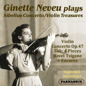 Sibelius: Violin Concerto & Suk: Four Pieces