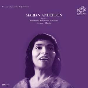 Marian Anderson Performing Songs by Schubert & Schumann & Brahms & Strauss & Haydn