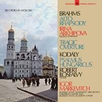 Berg: Violin Concerto; Brahms: Tragic Overture; Alto Rhapsody; Kodály: Psalmus Hungaricus